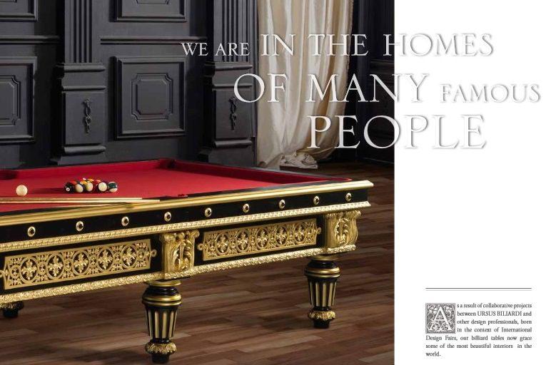 Włoskie luksusowe stoły bilardowe