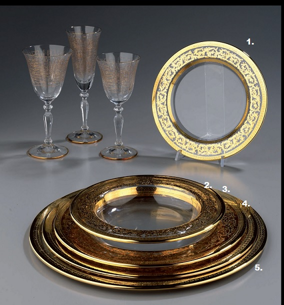 talerze eleganckie na stół
