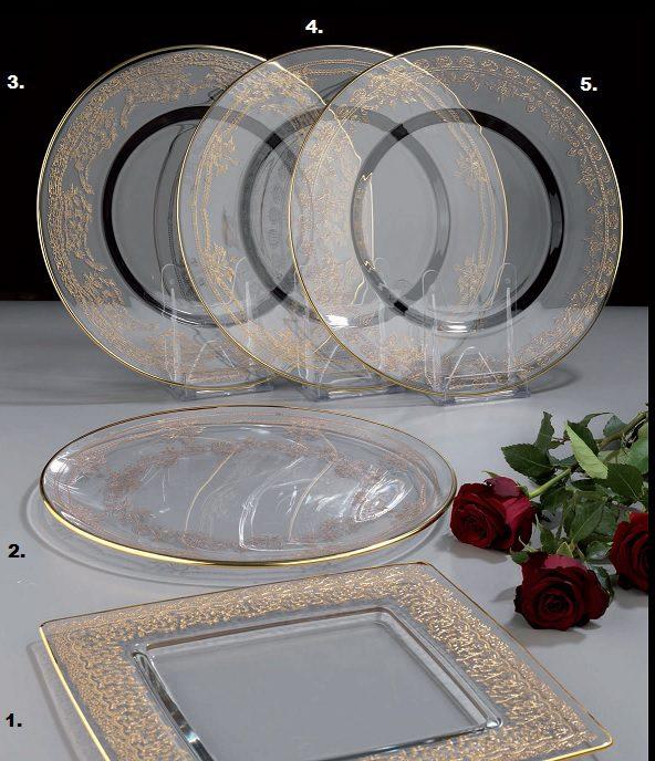 złocone eleganckie talerze