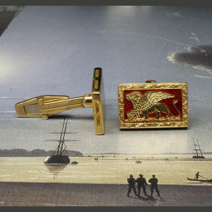 spinki do mankietów ze złota