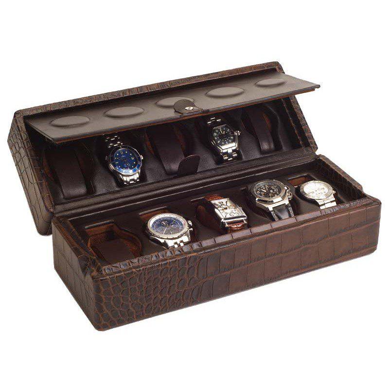 skórzane pudełka i etui na zegarki