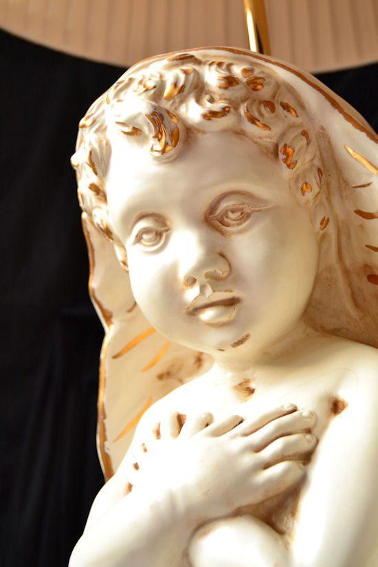 aniołek z ceramiki i porcealny na prezent