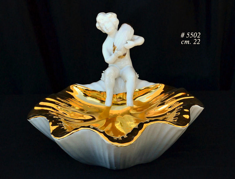 ceramiczne i porcelanowe aniołki