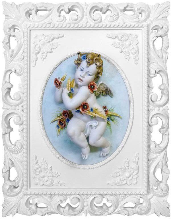 obraz z aniołkami z porcelany