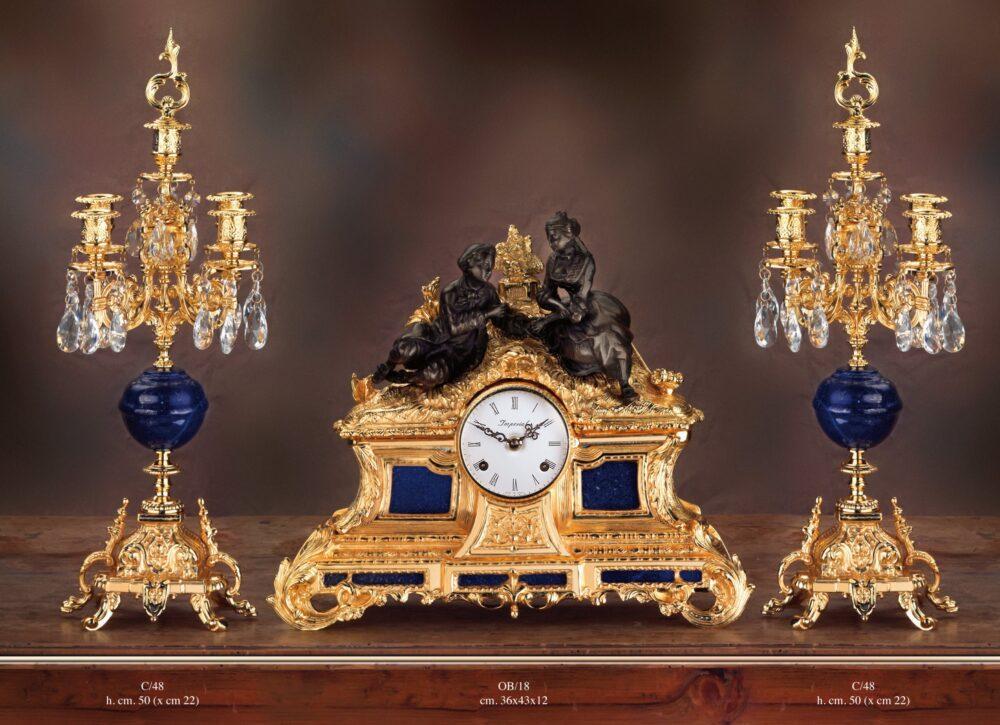 antyczny luksusowy zegar do pałacu