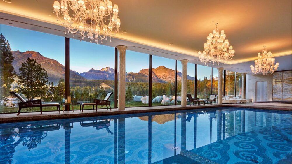 luksusowy basen na słowacji
