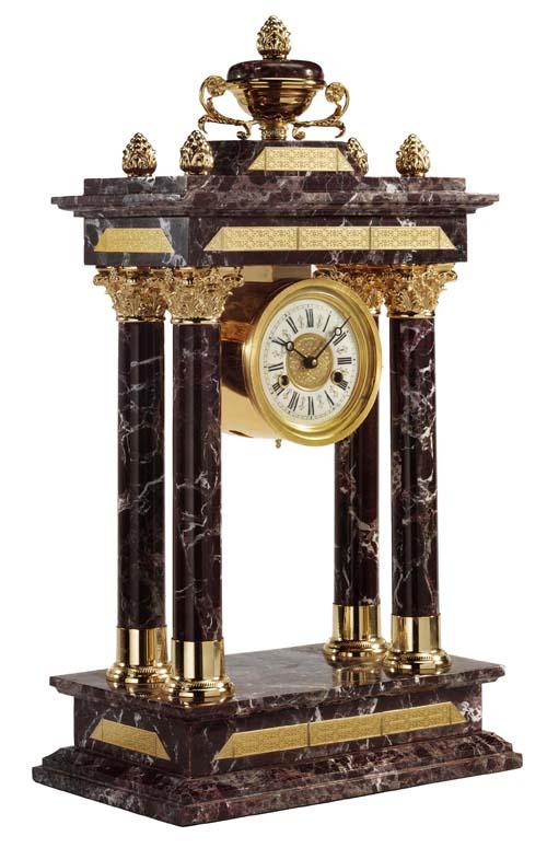 zegar antyczny na elegancki kominek