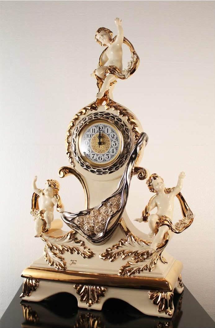 kominek zegar antyczny
