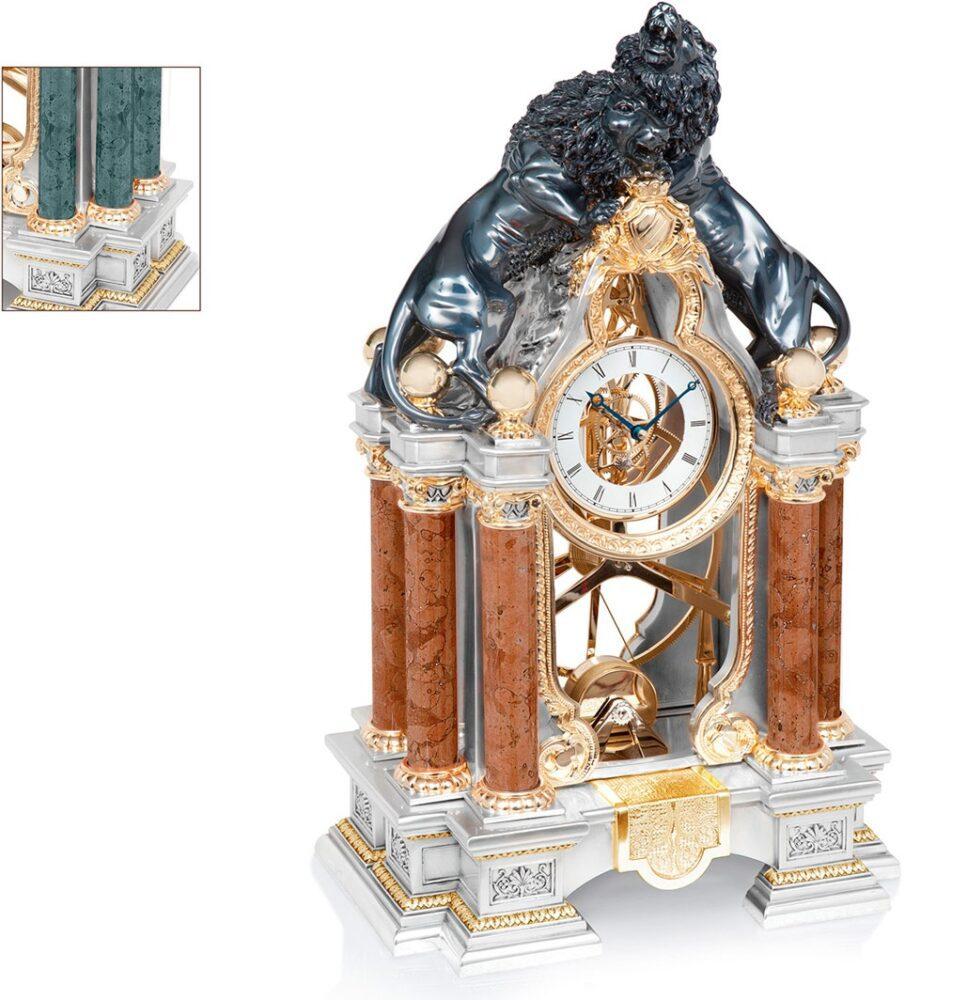 zegary antyczne na luksusowy kominek