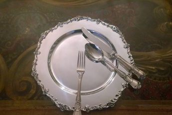 zastawa stołowa ze srebra