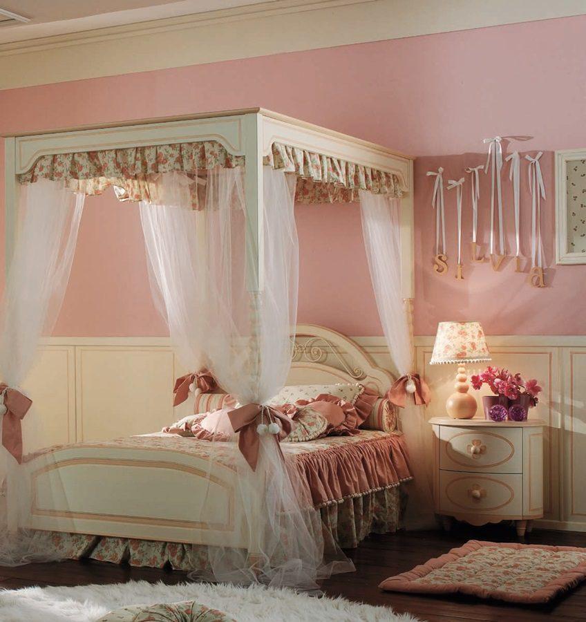 Elitarne włoskie sypialnie dla dziewczynek