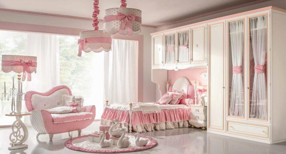 ale ładna włoska sypialnia dla dziewczynek