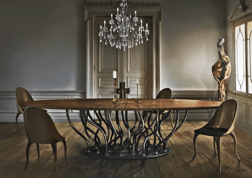 Futurystyczne stoły do salonu według artysty Albino Mirandy